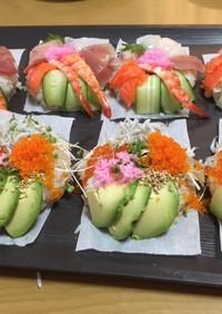 材料は手巻き寿司セットで!寿司ドーナツ♪