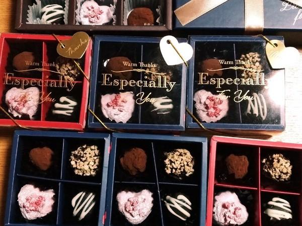 バレンタインに生チョコトリュフ