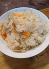 焼き鳥缶の炊き込みご飯