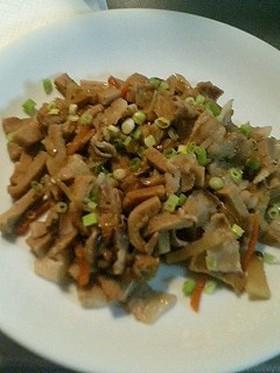 高野豆腐炒め(すき焼きのタレ味)