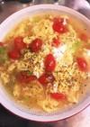 トマトとチーズと卵とセロリと塩ラーメン