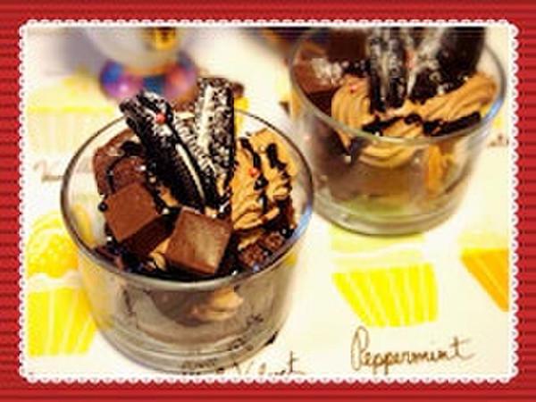 今から間に合う!簡単♡グラスチョコケーキ