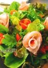 お祝いに花を添える 鉢植えサラダ