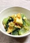 低糖質☆青梗菜と卵のオイマヨサラダ