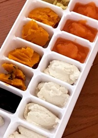 離乳食 初期 1週間分冷凍保存