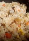 鮭缶の炊き込みご飯