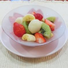 アスリート食フルーツたっぷり豆腐入り白玉
