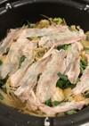 白菜と長ネギ、豚バラの無水鍋