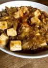 ラーメンスープで。キムチ麻婆豆腐