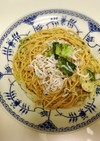 白菜とじゃこの和風ペペロンチーノ