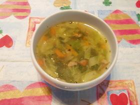 残り野菜で簡単スープ♪