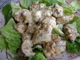 鶏レバ-のカレ-マヨ和え