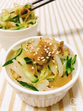 レンジで簡単!搾菜もやしきゅうりナムル