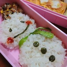 お箸で簡単!雪だるまご飯のお弁当☆