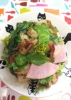 れんこんセロリ菜の花サラダ
