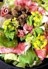 フライパンde豚肉と春野菜のすき焼き風鍋