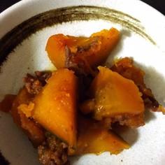 お肉入り♫こっくり甘辛かぼちゃの煮物