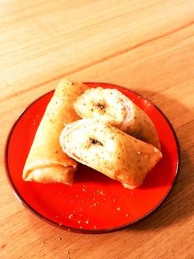 バナナのシナモンシュガー春巻