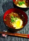 簡単!八丁味噌のお味噌汁☆卵玉葱