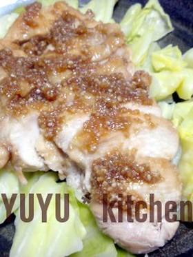 鶏肉のゴマゴマ生姜照り焼き