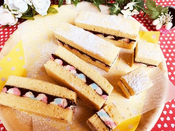 ホワイトデー♡生チョコマシュマロケーキ