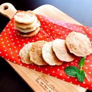 離乳食後期☆甘酒でバナナお豆腐パンケーキの写真