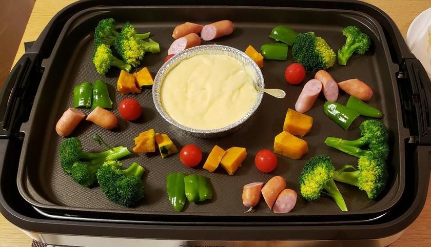 ホットプレートで簡単♡チーズフォンデュ