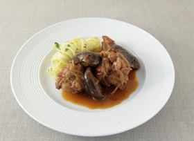 鶏手羽と椎茸の赤ワイン煮