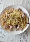 冷凍野菜のクリームスパゲッティ
