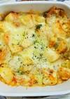 里芋とねぎとエリンギのキムチチーズ焼き