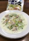 サッポロ一番の残りスープで白菜のミルク煮