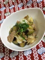 豚と茄子の味噌炒めの写真