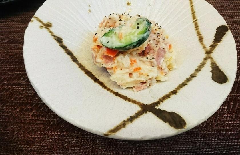 簡単*洋食屋風~春色ポテトサラダ~