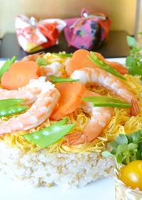鶏そぼろで作るひな祭り寿司♪