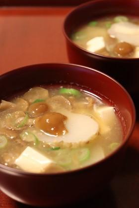 朝夕♪なめこと菊芋の味噌汁~2人分~