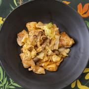 鶏むね肉とキャベツのオーロラ炒めの写真