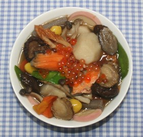 新潟名物☆塩鮭いくらと乾燥野菜でのっぺ汁