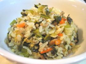 小松菜の炊き込みご飯
