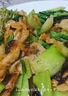 豚肉と青梗菜のオイスター風味