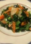 【手抜き】ターサイと人参の野菜炒め