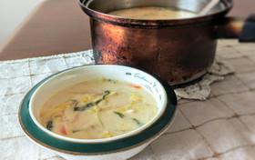 シーチキンの野菜たっぷり簡単ミルクスープ