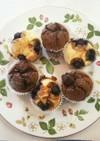 豆腐 HM チョコ&プレーンカップケーキ