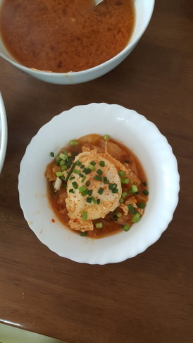 キムチ卵★つけ麺