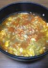 にんにくのきいた旨辛たまごスープ