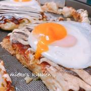 豆腐と長芋でふわとろお好み焼きの写真