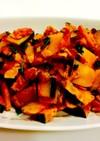 かぼちゃとベーコンのカレー炒め