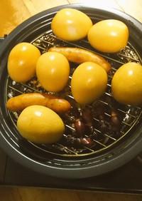 味つき卵で燻製卵