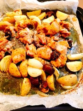 簡単☆チキンと新ジャガのオーブン焼き