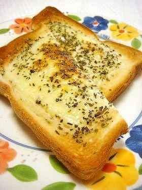 バジル★チーズトースト