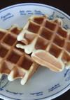 単位計算したバター風味の低糖質ワッフル